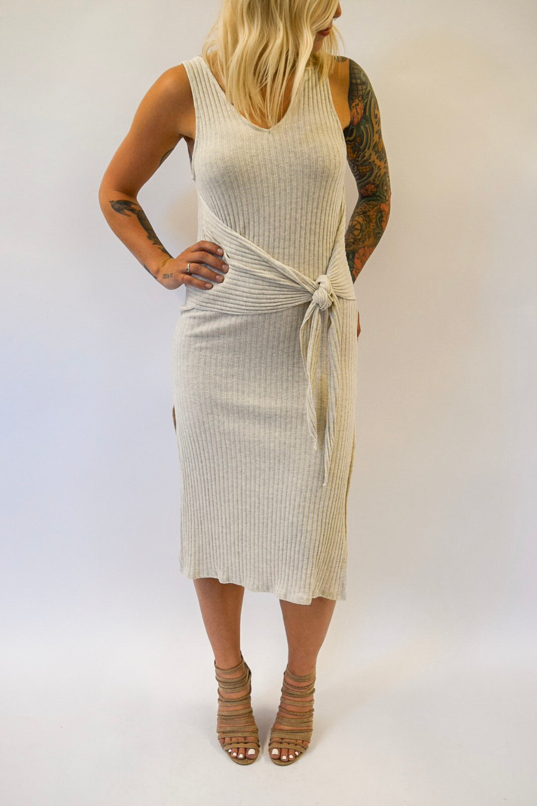 Knit Midi Dress | Taupe