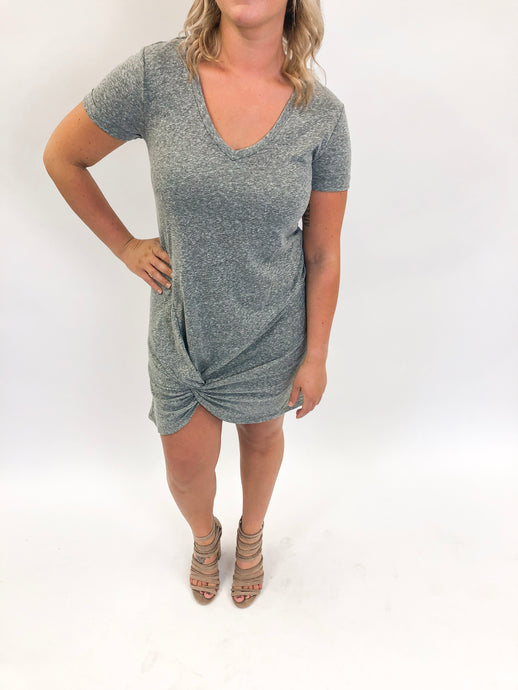 Triblend Side Knot Dress | Heather Grey