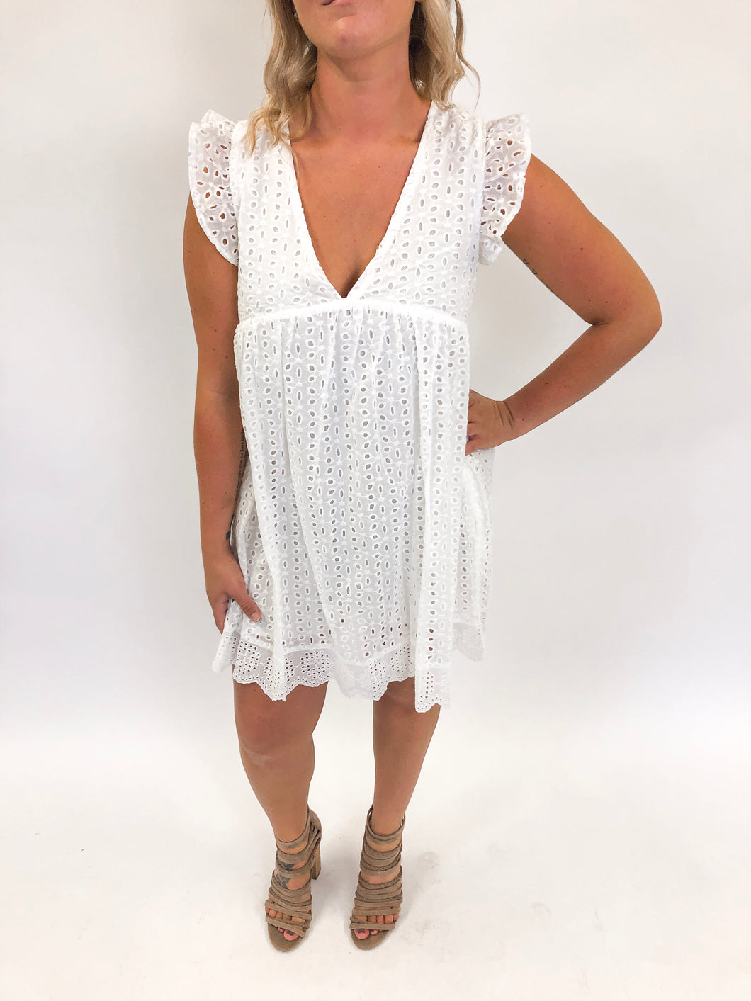 Lace Romper | White