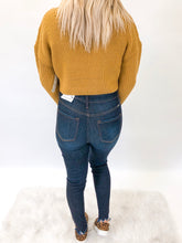 Cropped Knit Sweater | Mustard
