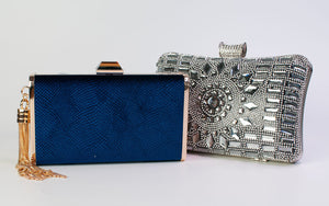 Naomi Glass Rhinestone Evening Bag