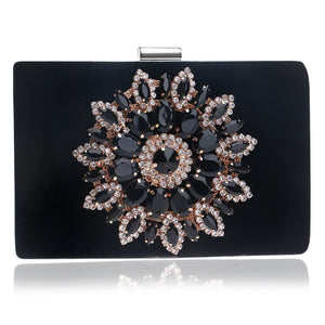 Freya Diamond Crystal Evening Clutch