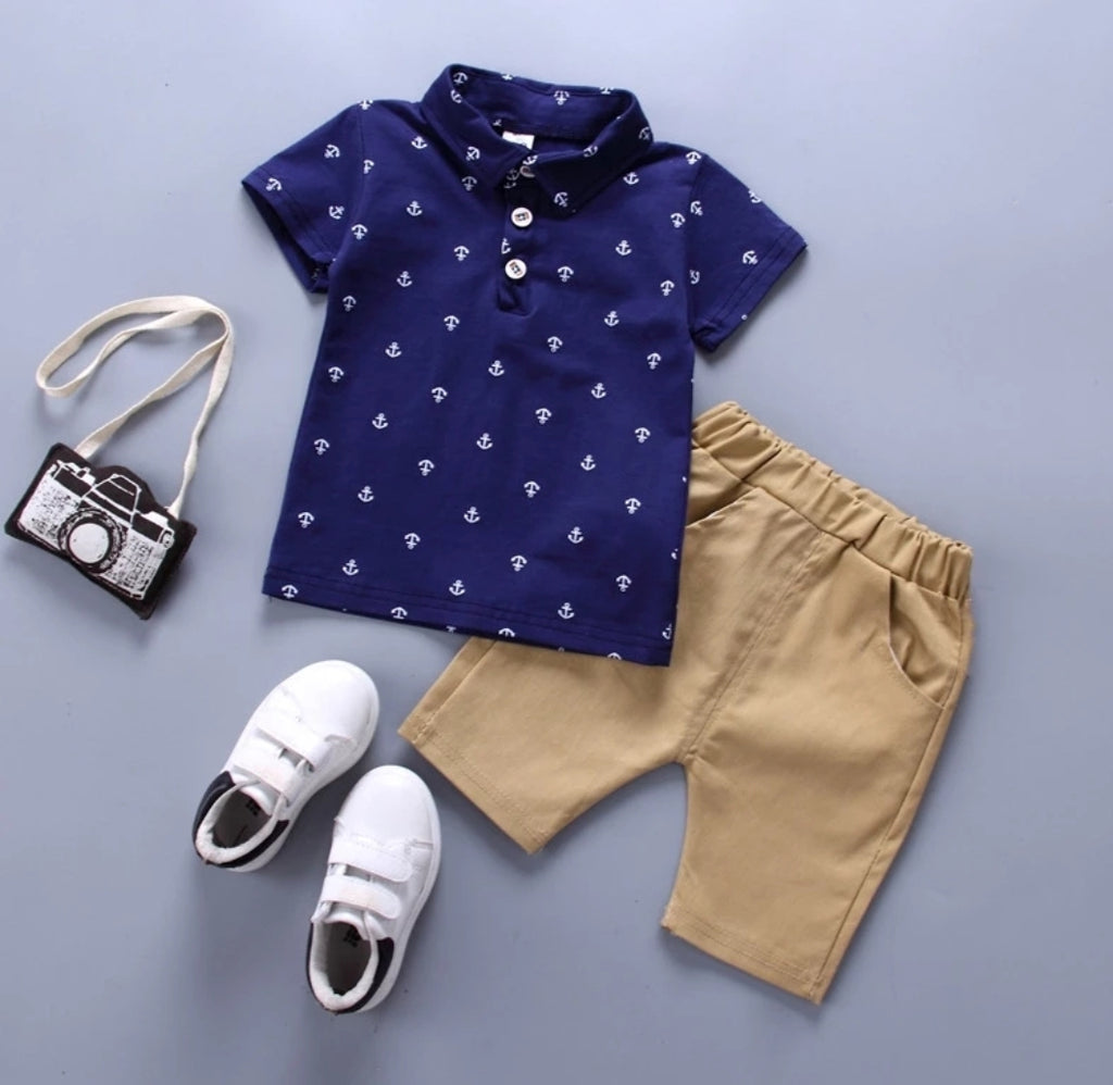 Anchor Print Shirt and Pants