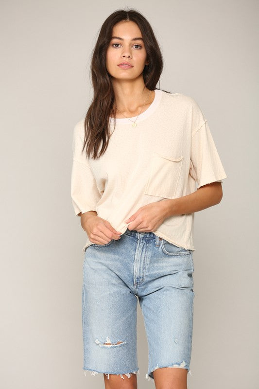 Short Sleeve Boxy Pocket Knit