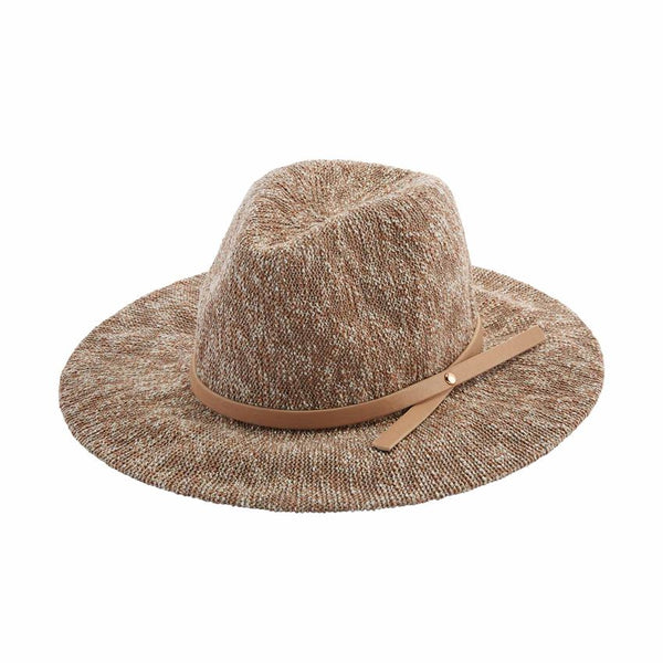 Tan Knit Fedora