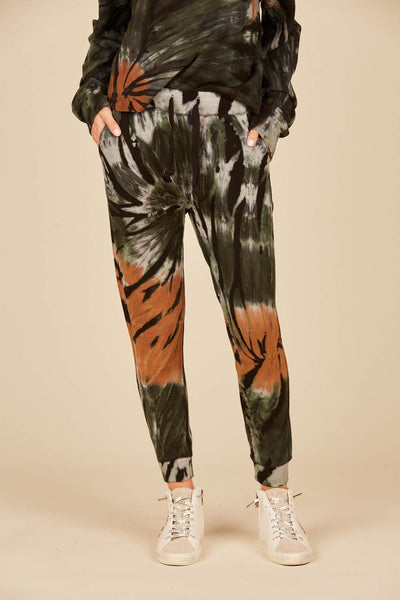 Black Forest Tie Dye Drapy Modal Pocket Jogger