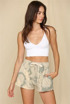Knit Hacci Tie dyed Shorts with Strap
