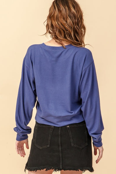 Drop Shoulder Round Neck Sweatshirt