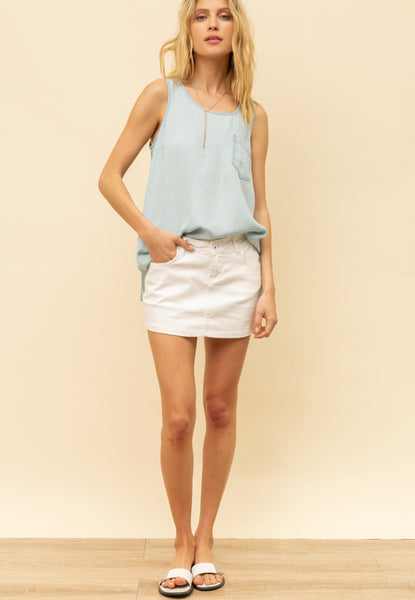 High/Low Tencel Tank