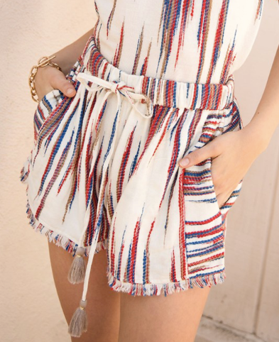 Firework Drawstring Short