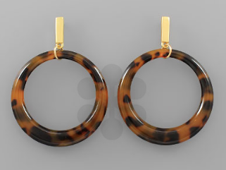 C-Out Circle Earrings