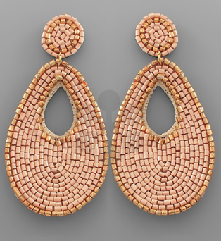 Bead Outline Teardrop Earrings