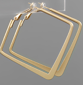 40mm Square Hoops