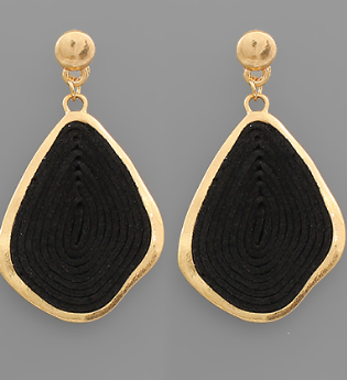 Suede Geometric Earrings