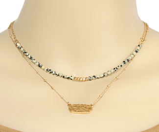 Stone Bead Layer Choker
