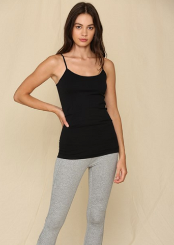 Seamless Tunic Cami - Black