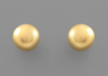 8mm Gold Ball Studs