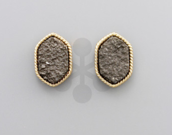 Druzy Hexagon Studs