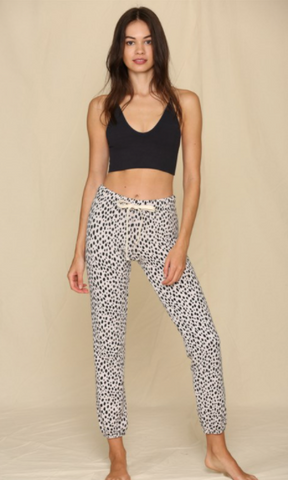 Knit French Terry Leopard Print Jogger