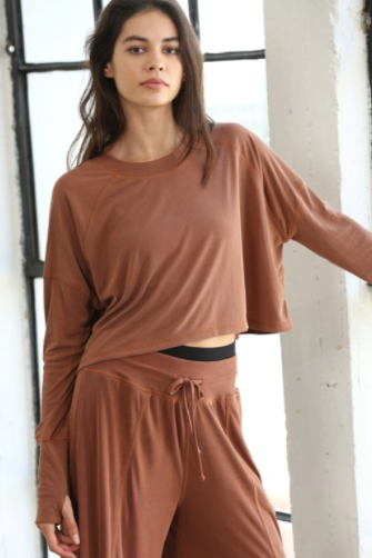 Long Sleeve Oversized Rib Top