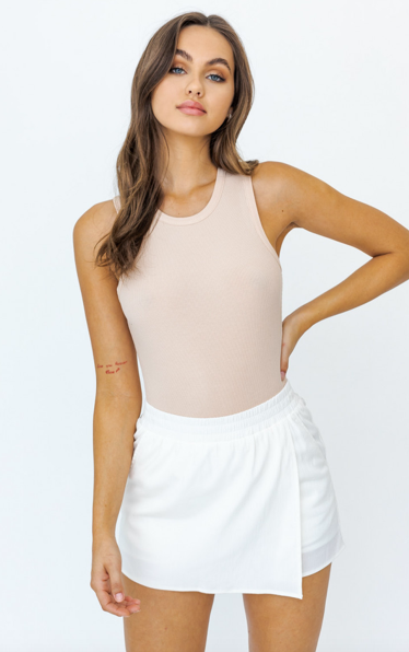 Round Neck Sleeveless Bodysuit