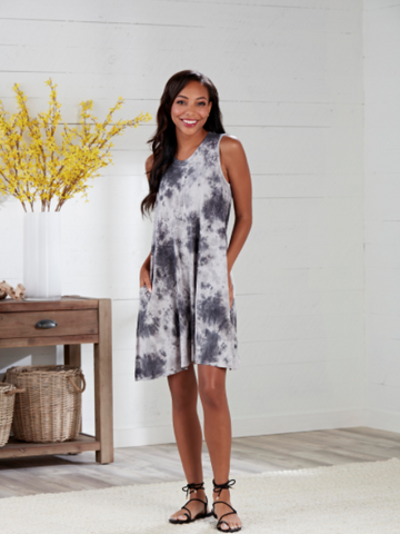 Baylor Gray Swing Dress
