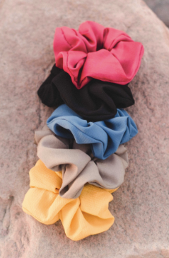 Poufy Solid Scrunchie