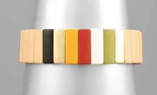 15mm Color Block Bracelet - Beige/Multi