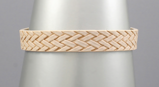 Woven Pattern Leather Bracelet
