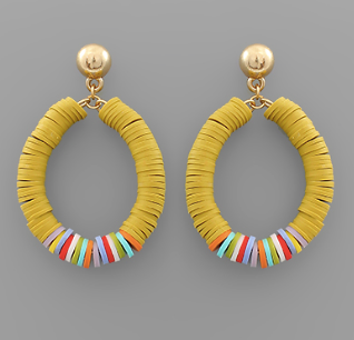 Teardrop Rubber Bead Earrings