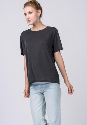 Basic Round Neck Short Sleeve T-Shirt