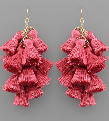 Multi Tassel Chandelier Earrings