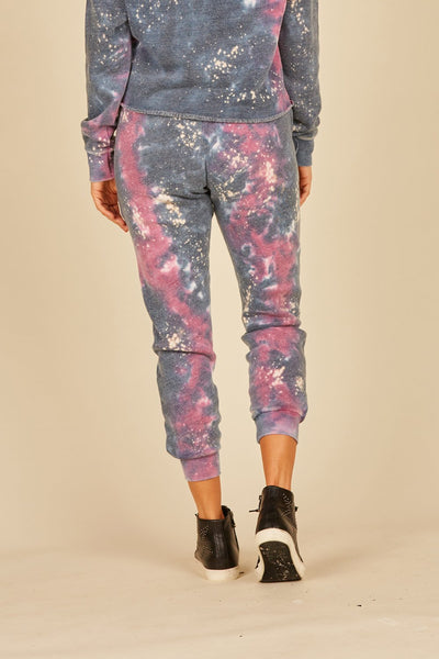 Galaxy Tie Dye Burnout Joggers