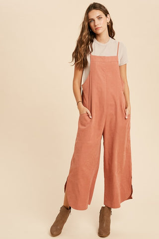 Curved Hem Croppped Jumpsuit