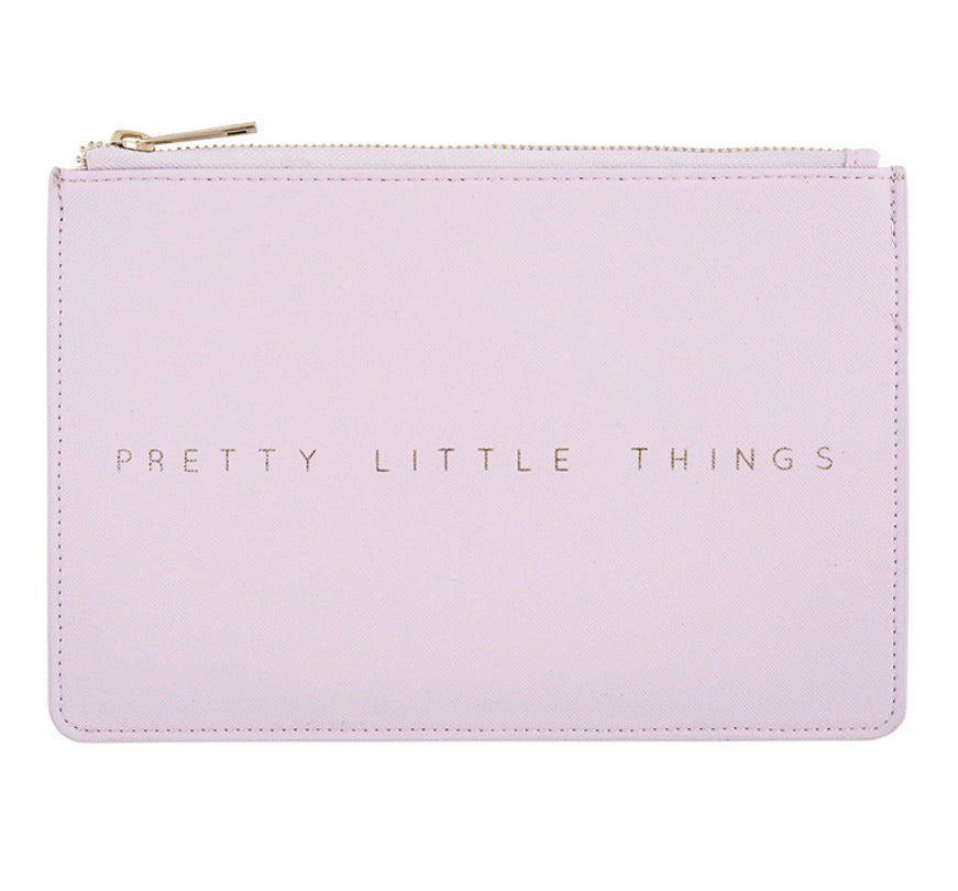 Leather Pouch - Pretty Little Things/Lavender