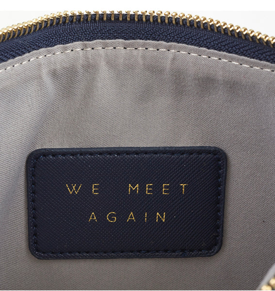 Leather Pouch - Hello Weekend/Navy