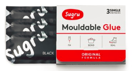 Sugru Mouldable Glue, black 3-Pack