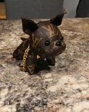LV inspired French Bulldog keychain