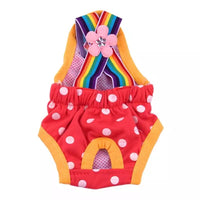 Dog diaper with suspenders