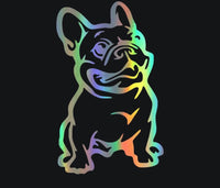 French Bulldog holographic car decal
