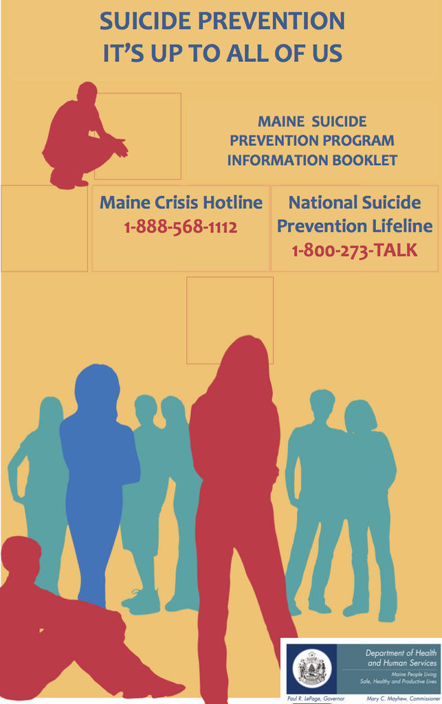 Suicide Prevention: It's Up to All of Us Information Booklet