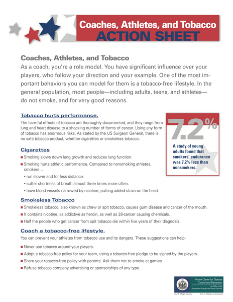 Coaches, Athletes, and Tobacco Action Sheet