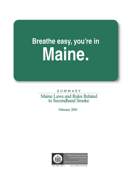 Maine Laws and Rules Related to Secondhand Smoke
