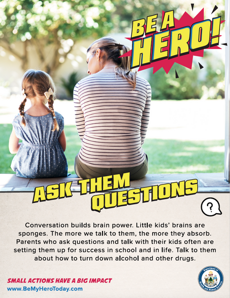 Be A Hero Poster: Ask Questions - Digital Only