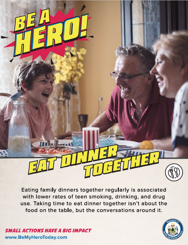 Be A Hero Poster: Eat Dinner - Digital Only