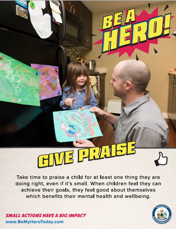 Be A Hero Poster: Give Praise