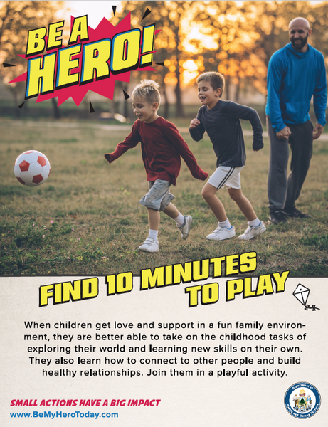 Be A Hero Poster: Find Time To Play