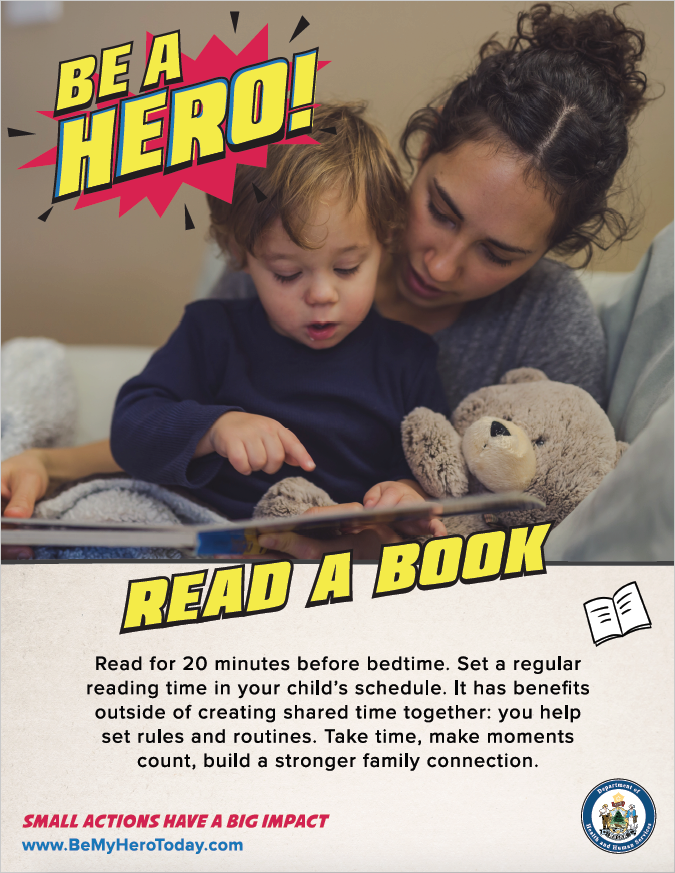 Be A Hero Poster: Read A Book