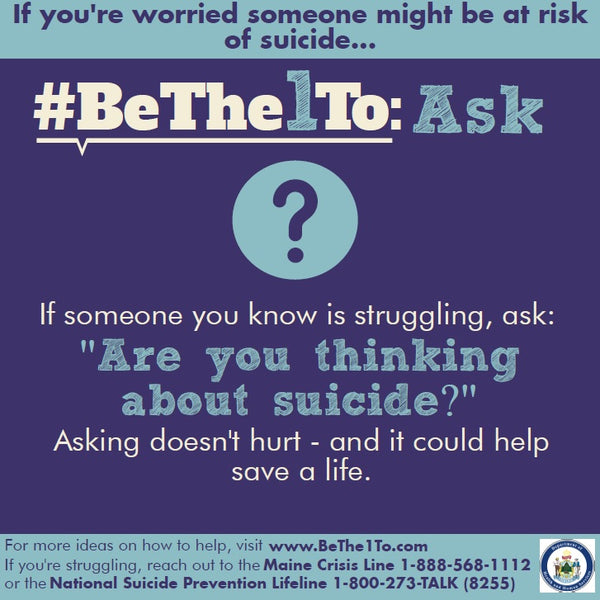 #BeThe1To Ask