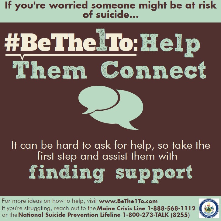 #BeThe1To Help Them Connect